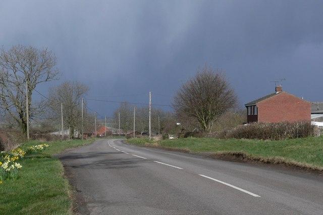 Shearsby Road towards Saddington
