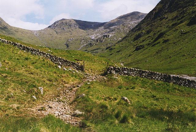 Field exit, Glen Ceitlein