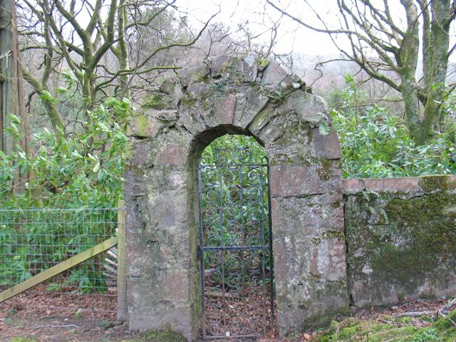Old entrance gate Saddell Abbey