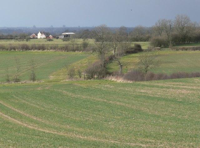Farmland east of Shearsby