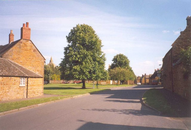 Main Street and the village green			Lyddington