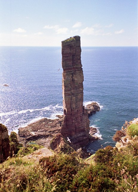 "A sea stack known as ""The Old Man of Hoy"""