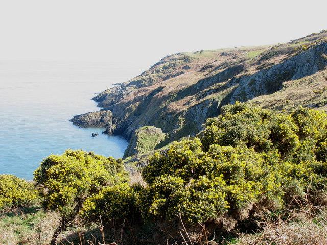 Cliffs above Porth Eilian