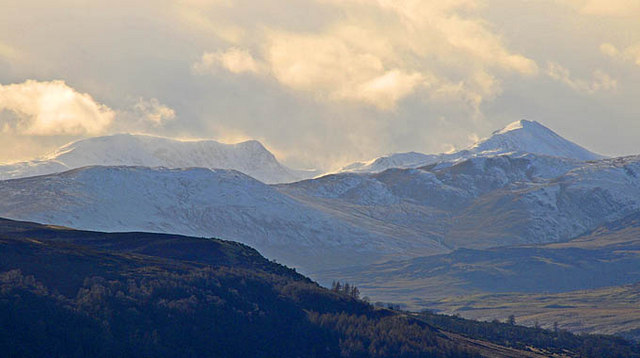 Distant view of Stuc a' Chroin and Ben Vorlich