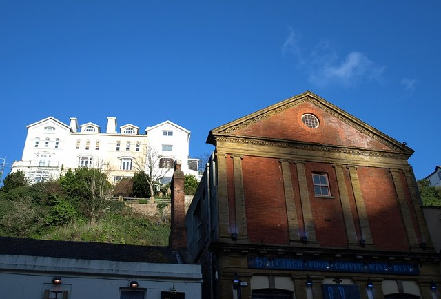 Vivian Institute and houses above, Torquay