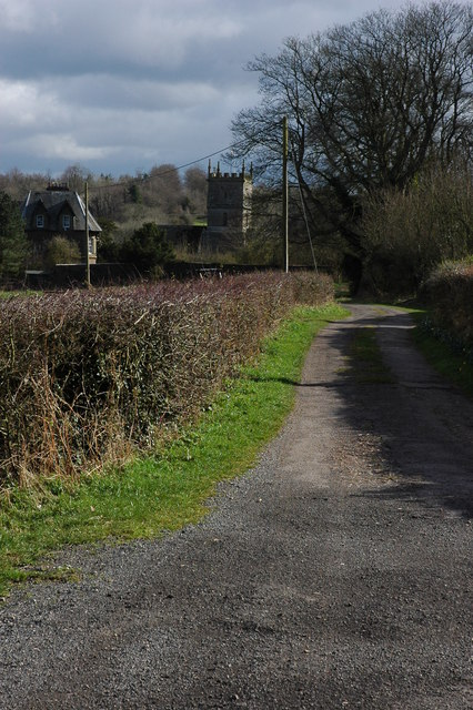 Staunton Church and a byway