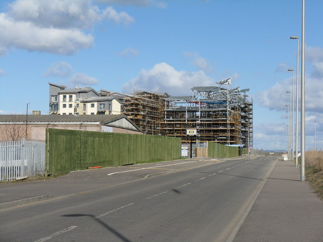 New housing development at Granton Harbour