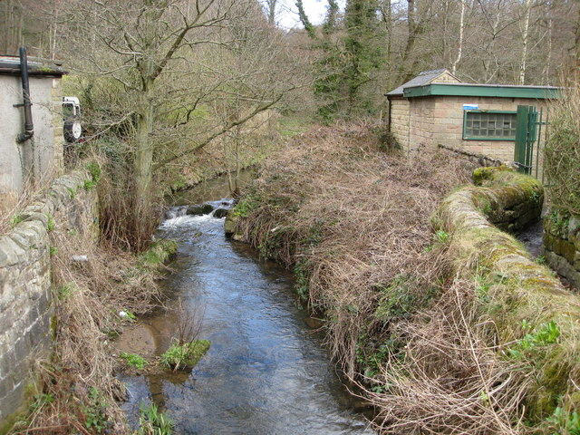 View of Lea Brook and Footpath from bridge