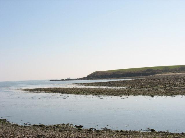 The outer estuary of Afon Goch