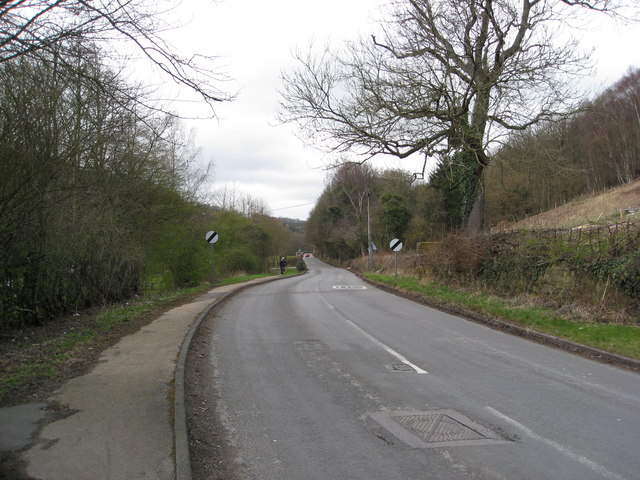 Lea Road - View in the direction of Cromford