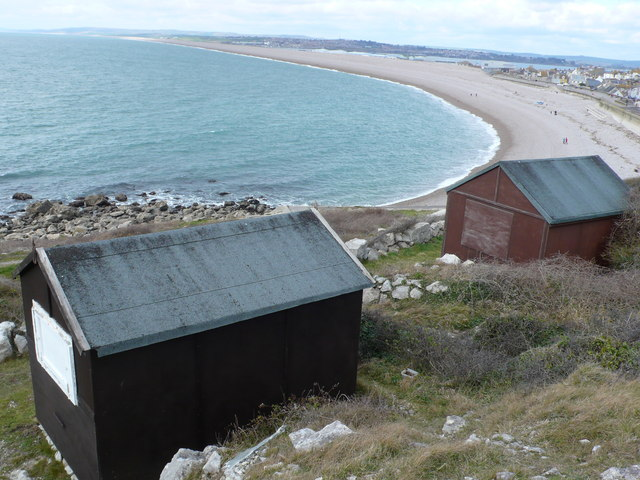 Huts with a view, Fortuneswell, Portland