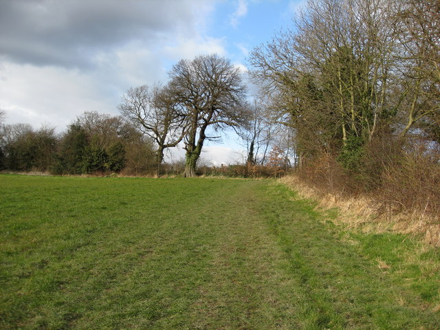 Looking back to Footpath Junction with Hazelhurst Lane