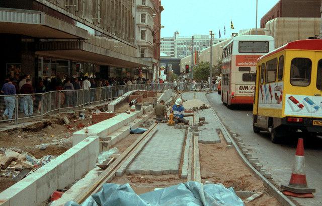 Construction of Market Street Metrolink station