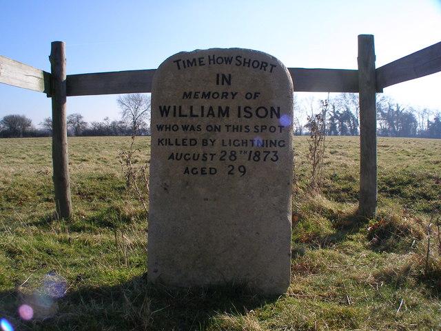 William Ison memorial, Quy Fen