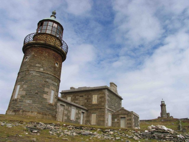 Two disused lighthouses, Calf of Man