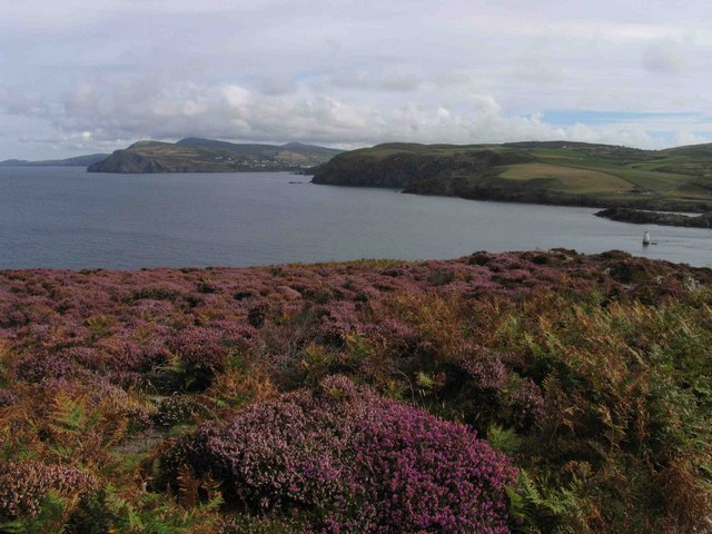 View towards Aldrick & Bradda Head from the Calf of Man