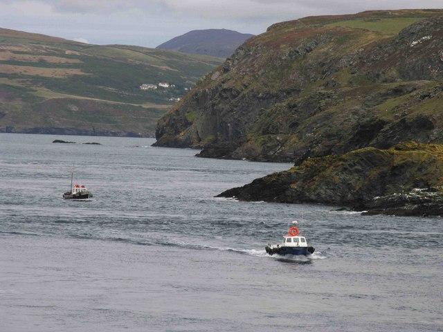 Boats passing Kitterland