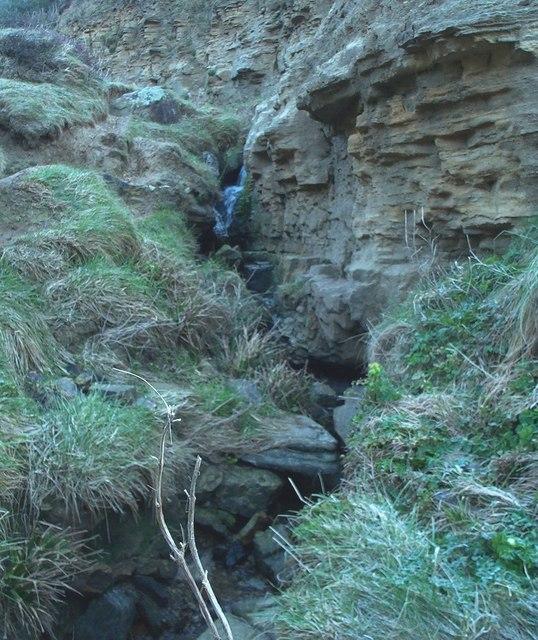 Ecclesbourne Glen (lower) waterfall