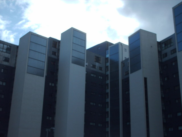 Back View Of Lancefield Quay Flats