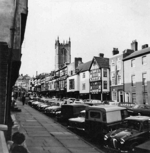 Ludlow town centre taken 1967