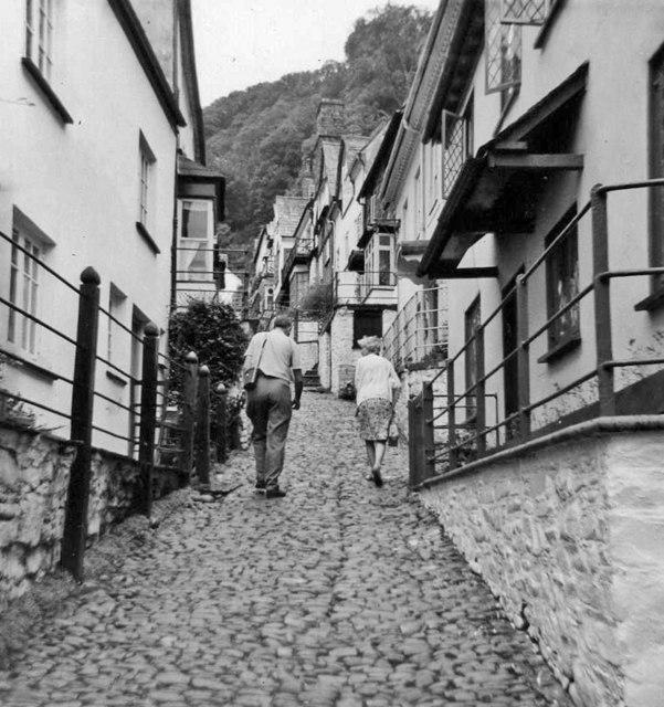 Main street Clovelly, Devon, taken 1967