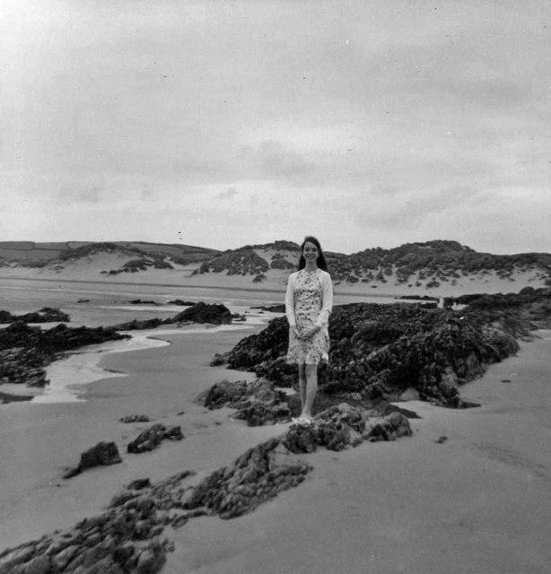 Rocks and sand, Instow, Devon taken 1967