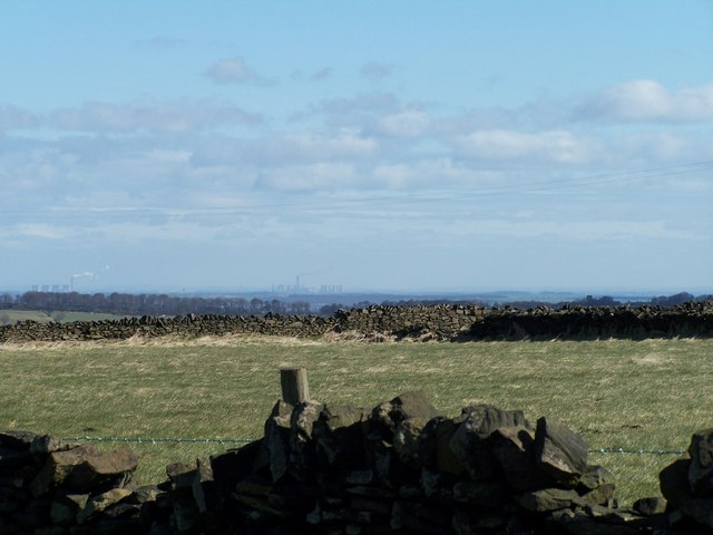 Distant view of Power Stations from Bolsterstone
