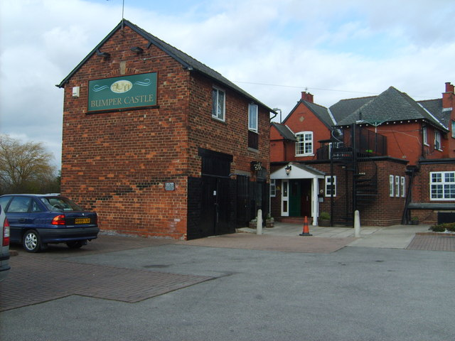 Bumper Castle public house from the car park