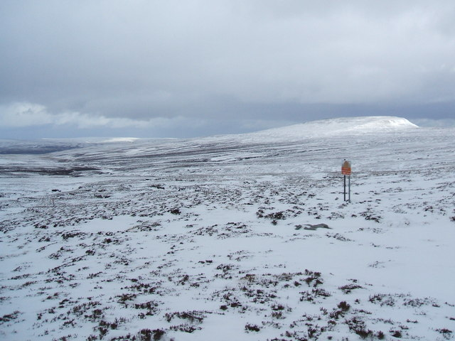 Edge of the danger area on Murton Fell