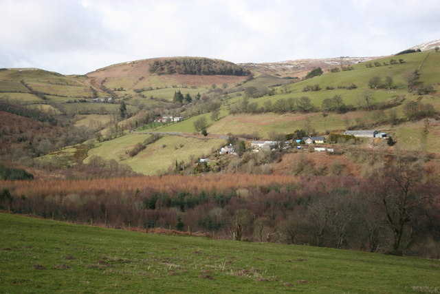 Looking across Cwm Hirnant