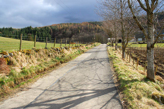 The road to Drummond Earnoch