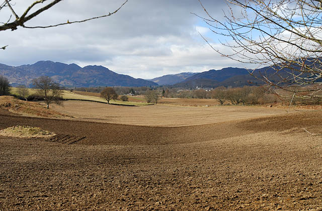 Farmland looking west towards Comrie