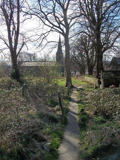 Footpath to Wadsley Parish Church Cemetery