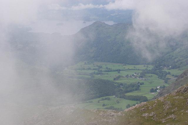 Borrowdale from Glaramara summit.