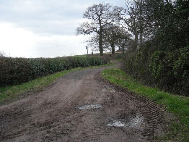 Track to Hungary Hill Farm