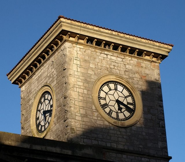 Clock tower,  Old Town Hall, Torquay