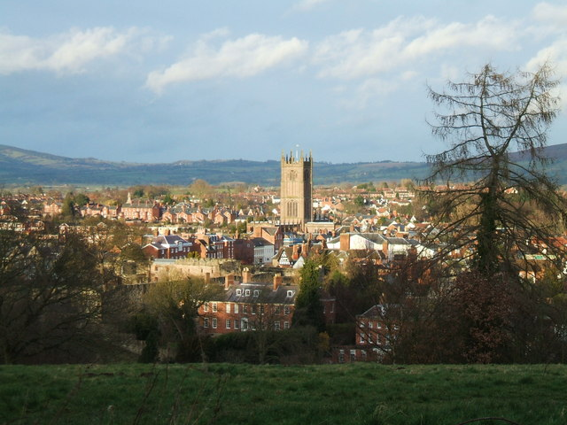 The Tower of St Laurence's Church in Ludlow