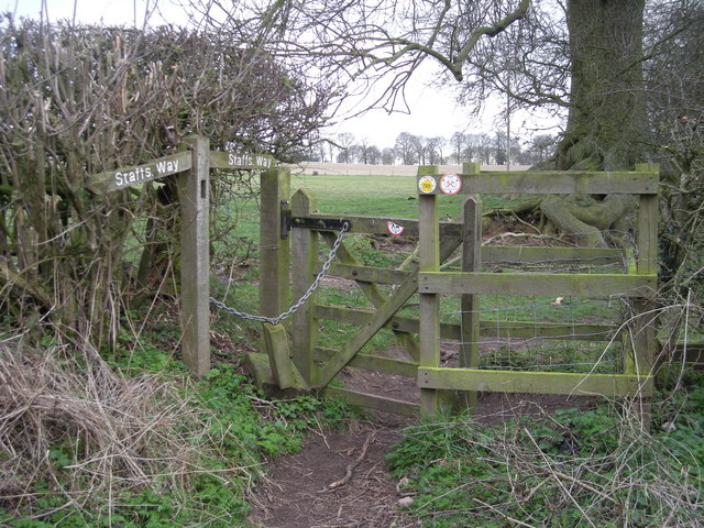 Kissing gate on the Staffordshire Way