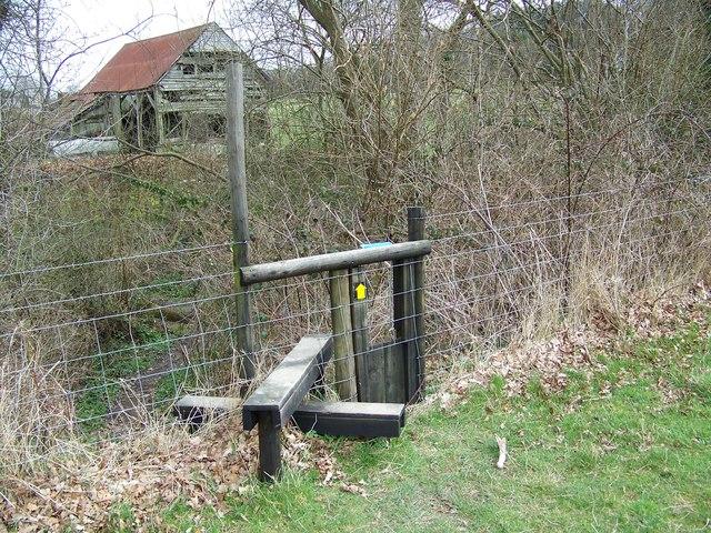 Stile near Sutton Mandeville Mill