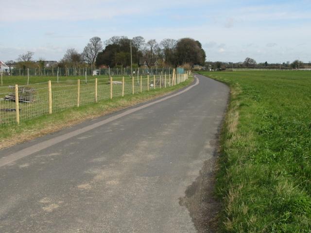 View along Alland Grange Lane