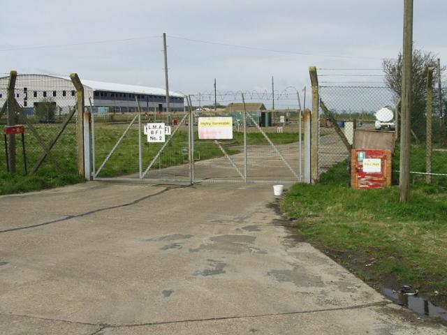 Fuel storage depot on Alland Grange Lane