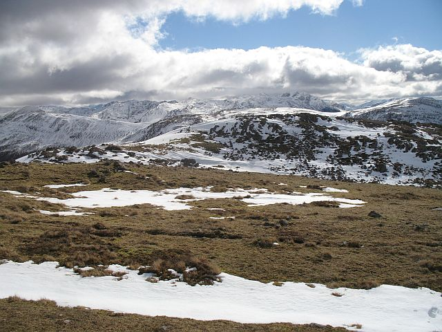 South ridge of  Meall a' Chaorainn