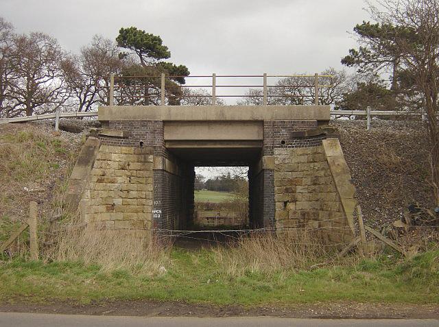Bridge under the railway