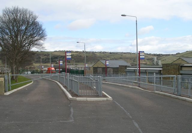 School Bus Stops - Moor Bottom Road, Illingworth