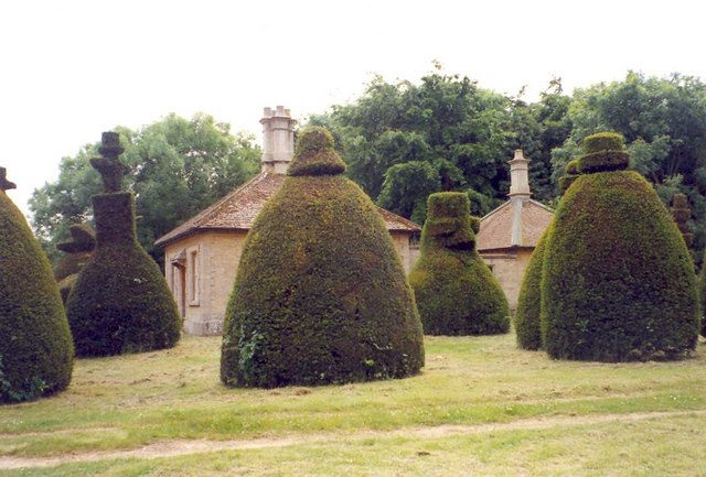 The gardener's lodge and out-house, Clipsham topiary avenue