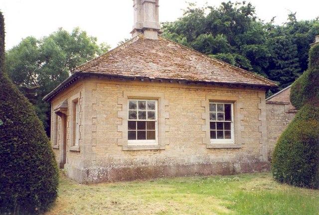 The gardener's lodge, Clipsham topiary avenue