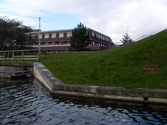 Looking to Clyde Court from the banks of the Forth and Clyde Canal