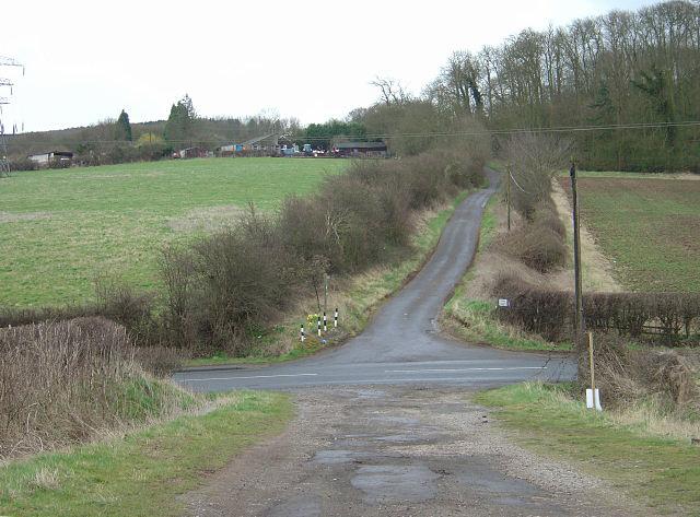 The bottom of Wood Lane