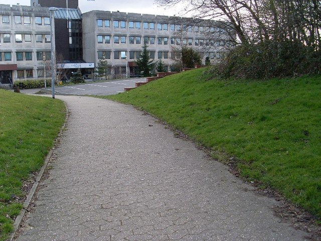 Pathway to West Dunbartonshire council offices