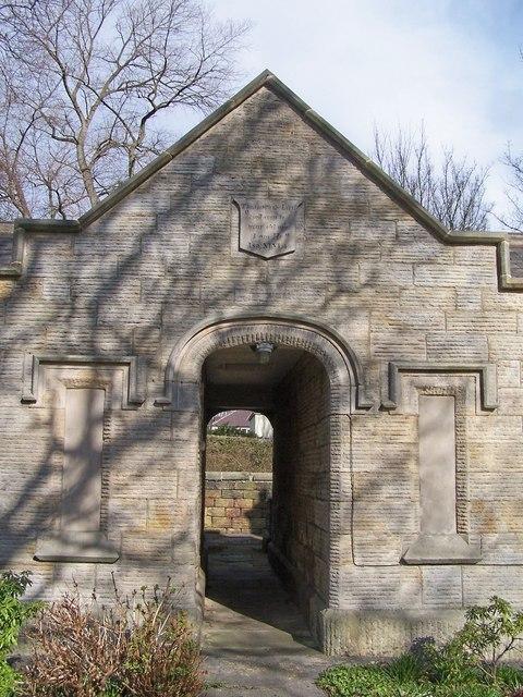 Central Arch in Hannah Rawson Almshouses, Wadsley